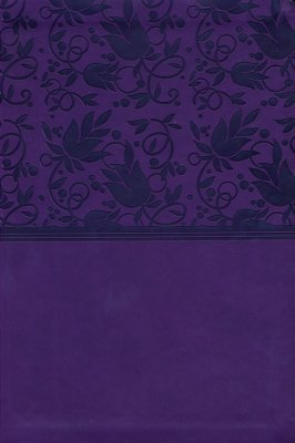 NKJV Large Print Personal Size Reference Bible Purple LeatherTouch