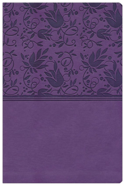 KJV Giant Print Reference Bible Purple Leathertouch