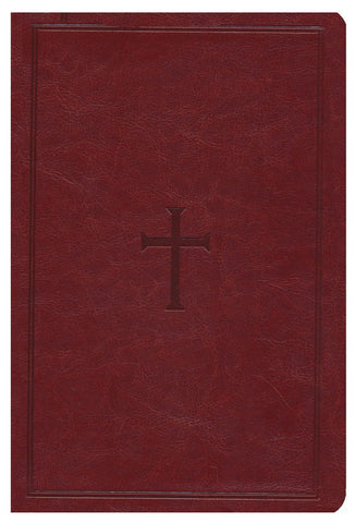 NKJV Super Giant Print Family Size Reference Bible Brown with Cross