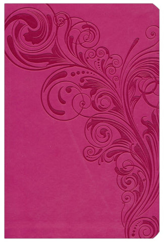 CSB Super Giant Print Reference Bible-Pink LeatherTouch