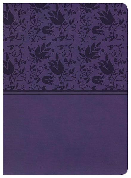 NKJV Holman Study Bible (Full Color)-Purple LeatherTouch - Limited Quantities Available