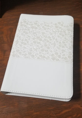 Spanish RVR 1960 Compact Keepsake Bride's Bible-White Floral LeatherTouch