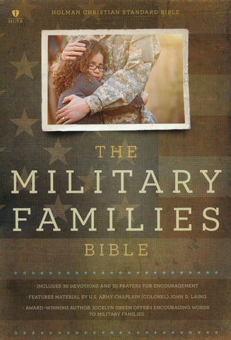 Military Families Bible CSB -Navy/Red - Limited Quantities Available