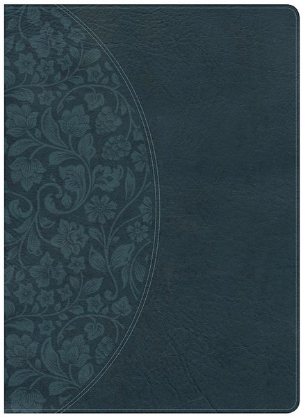 NKJV Holman Study Bible Large Print Edition Dark Teal LeatherTouch