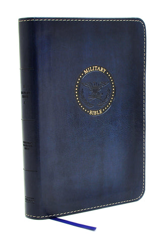 CSB Compact Military Bible, Royal Blue LeatherTouch for Airmen