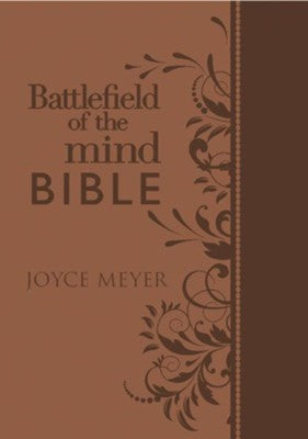 Amplified Battlefield Of The Mind Study Bible-Brown Euroluxe