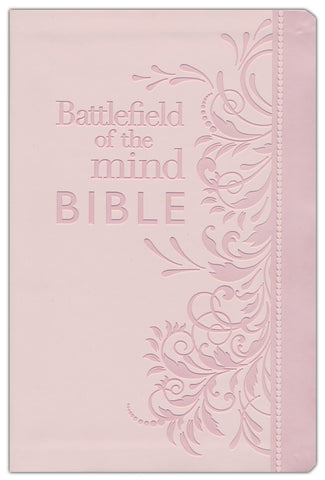 Amplified Battlefield Of The Mind Study Bible-Pink Euroluxe
