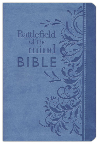 Amplified Battlefield Of The Mind Bible-Blue Bonded Leather