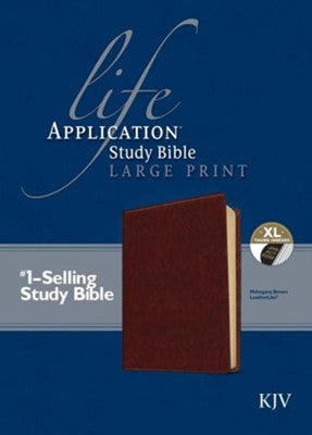 KJV Life Application Study Bible 2nd Edition, Large Print Brown Indexed