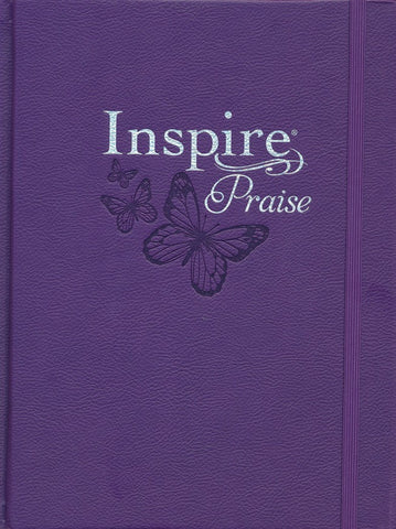 NLT Inspire Praise Bible/Large Print-Purple Hardcover~ The Bible For Coloring & Creative Journaling