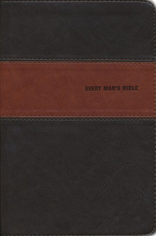 NIV Every Man's Bible-Deluxe Heritage Edition-Brown/Tan TuTone Indexed