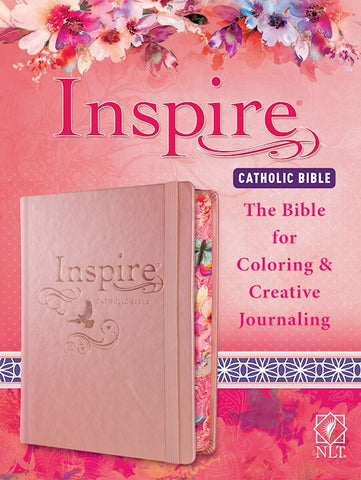 NLT Inspire Catholic Bible-Pink Hardcover The Bible For Coloring & Creative Journaling