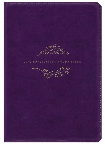 NLT Life Application Study Bible, Third Edition--soft leather-look, purple Indexed