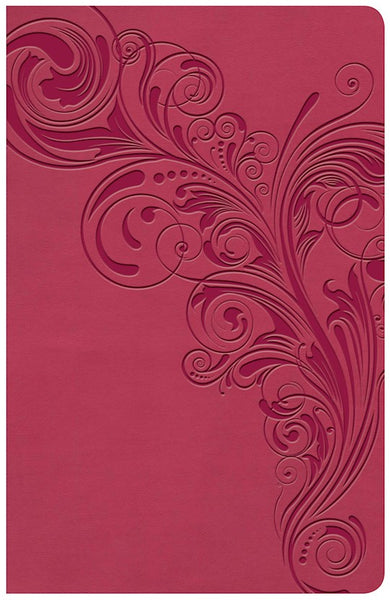 KJV Large Print Personal Size Reference Bible-Pink LeatherTouch Indexed
