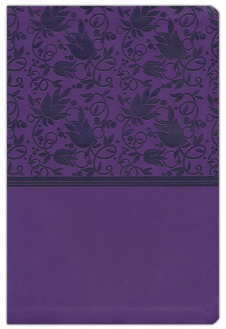 KJV Giant Print Reference Bible-Purple LeatherTouch Indexed