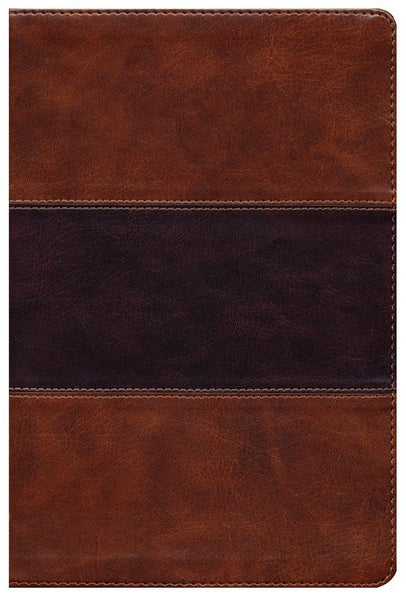 KJV Giant Print Reference Bible-Saddle Brown LeatherTouch Indexed