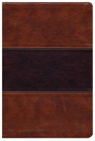 KJV Giant Print Reference Bible-Saddle Brown LeatherTouch