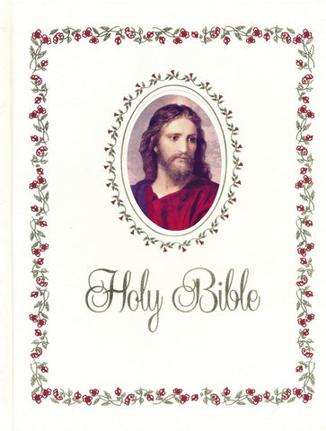 Catholic NABRE Signature Edition Large Print Family Bible - White