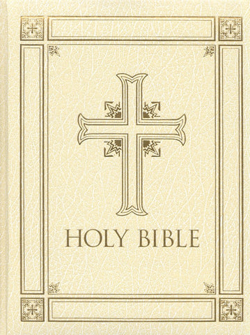 RSV Catholic Family Large Print Bible -Ivory - Limited Quantities Available