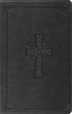 ESV Thinline Celtic Cross Bible-Charcoal