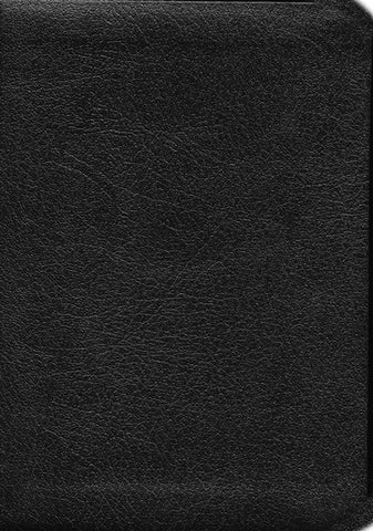KJV COMPACT LARGE PRINT REFERENCE BIBLE, BONDED LEATHER, BLACK