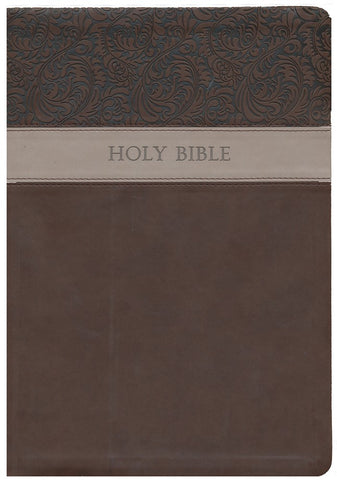 KJV Large Print Wide Margin Reference Bible-Brown