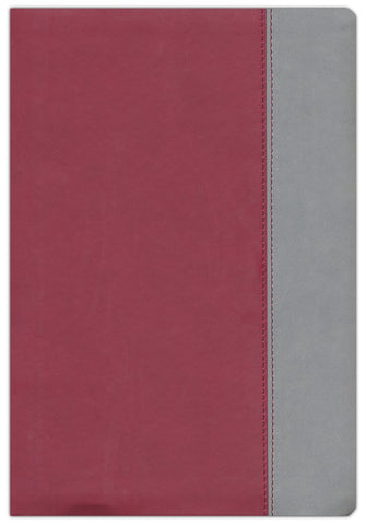 Parallel Bible KJV, NKJV, NIV & NLTse Flexisoft Leather Red/Grey
