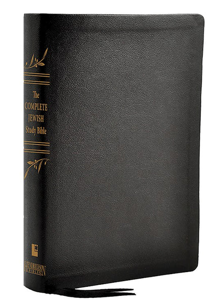 The Complete Jewish Study Bible-Black Genuine Calfskin Leather