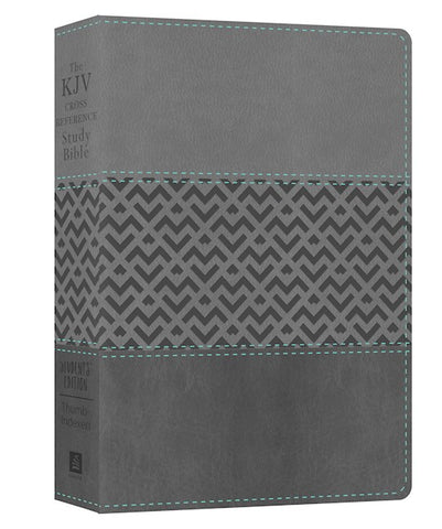 KJV Cross Reference Study Bible Student's Edition Soft Leather-Look Grey Indexed