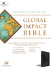 Global Impact Study Bible, Charcoal Lux Leather-ESV