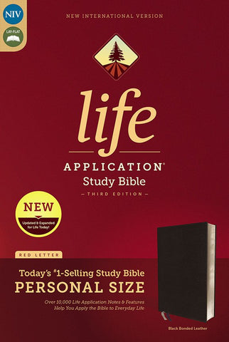 NIV Life Application Study Bible/Personal Size (Third Edition)-Black Bonded Leather Indexed