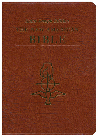 NABRE St Joseph Large Print Holy Spirit Bible - Brown