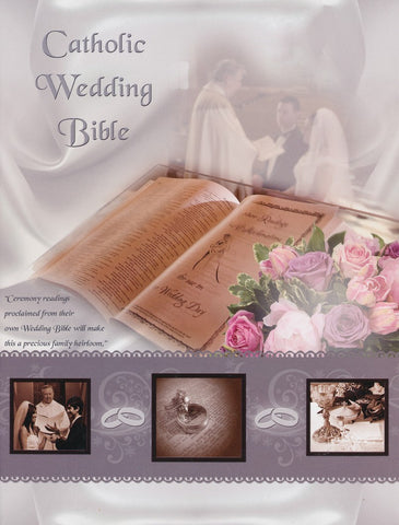 NABRE CATHOLIC FAMILY BIBLE WEDDING EDITION, WHITE BONDED LEATHER