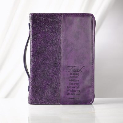 Hebrews Faith Purple Bible Cover