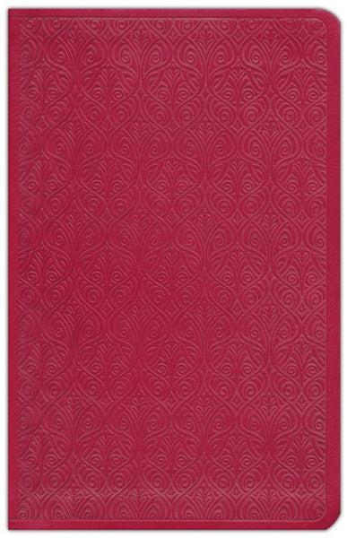 ESV Large Print Thinline Bible - Trutone Ruby Vine Leaf - Limited Quantities Available