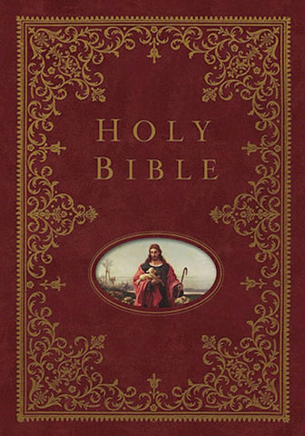NKJV Illustrated Family Bible-Burgundy