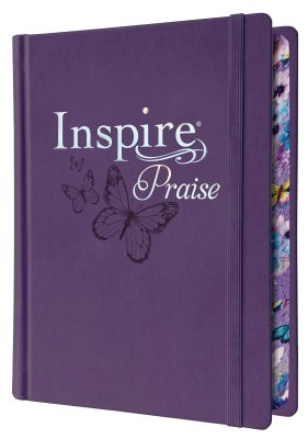 NLT Inspire PRAISE Bible, Purple Imitation Leather