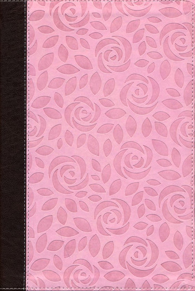 NIV Thinline Bible/Large Print (Comfort Print)-Pink Leathersoft