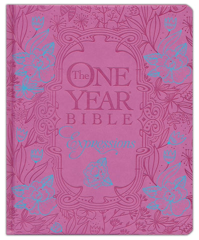 NLT One Year Chronological Bible Creative Expressions-Deluxe Fuchsia Hardcover