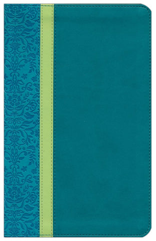 NLT Personal Size Large Print Bible-Teal Avocado/Jade TuTone Indexed