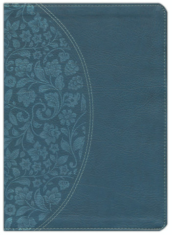 KJV Holman Study Bible Large Print Edition Dark Teal LeatherTouch Indexed