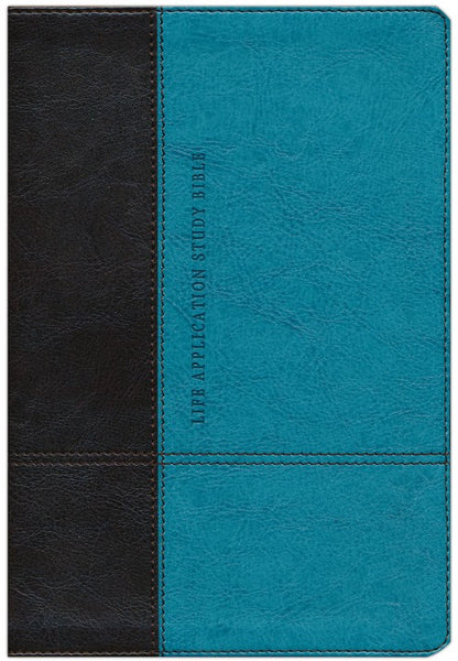 Life Application Study Bible NLT Personal Size TuTone Brown/Teal