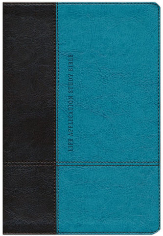 Life Application Study Bible NLT, Personal Size, TuTone Brown/Teal