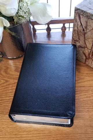 NIV Comfort Print Thinline Reference Bible, Bonded Leather, Black