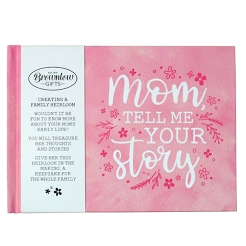 Heirloom Memory Book-Mom, Tell Me Your Story-Pink