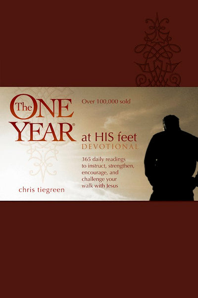 The One Year At His Feet Devotional-LeatherLike