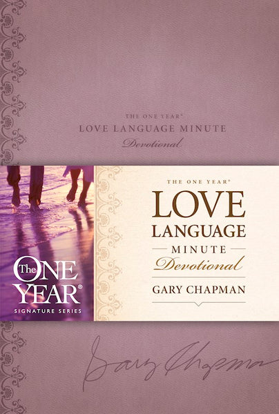 One Year Love Language Minute Devotional-Lavender LeatherLike