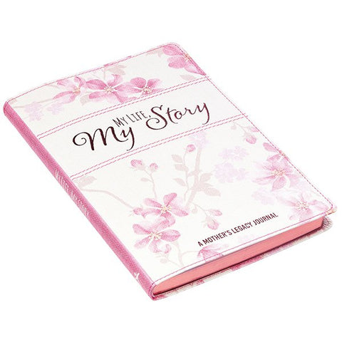 Journal-My Life, My Story (Mother Legacy)-Pink LuxLeather