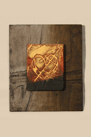 Dimensional Earth Heart Wall Plaque