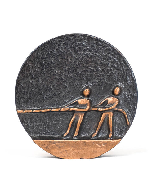 Bronze Pulling Together Plaque